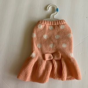 New with tags dog dress small pink w/ polka dots